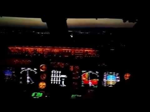 Boeing 747 400 heavy landing on runway 31 Bratislava slovakia  LZIB