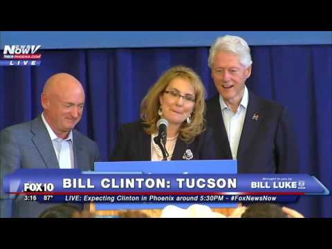 Sweet Moment Between Mark Kelly & Gabby Giffords in Tucson: Helps Gabby w/ Clinton Endorsement FNN