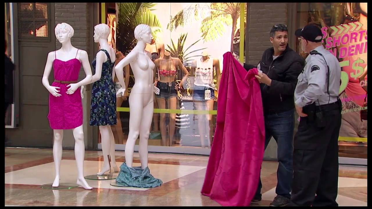 The Naked Mannequin Challenge - YouTube