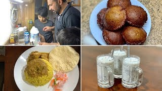 Nostalgia over the weekend !! Neyyappam, Erachichoru, Thengachoru & Avil milk