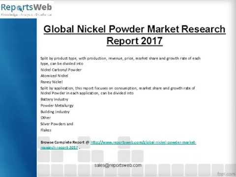 Global Nickel Powder Market Research Report 2017