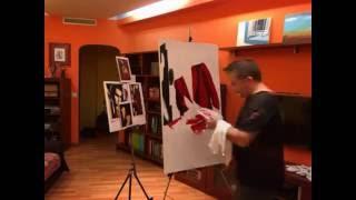 Tamara de Lempicka. Retrato de la Sra. Bush. Timelapse. Sesión 1