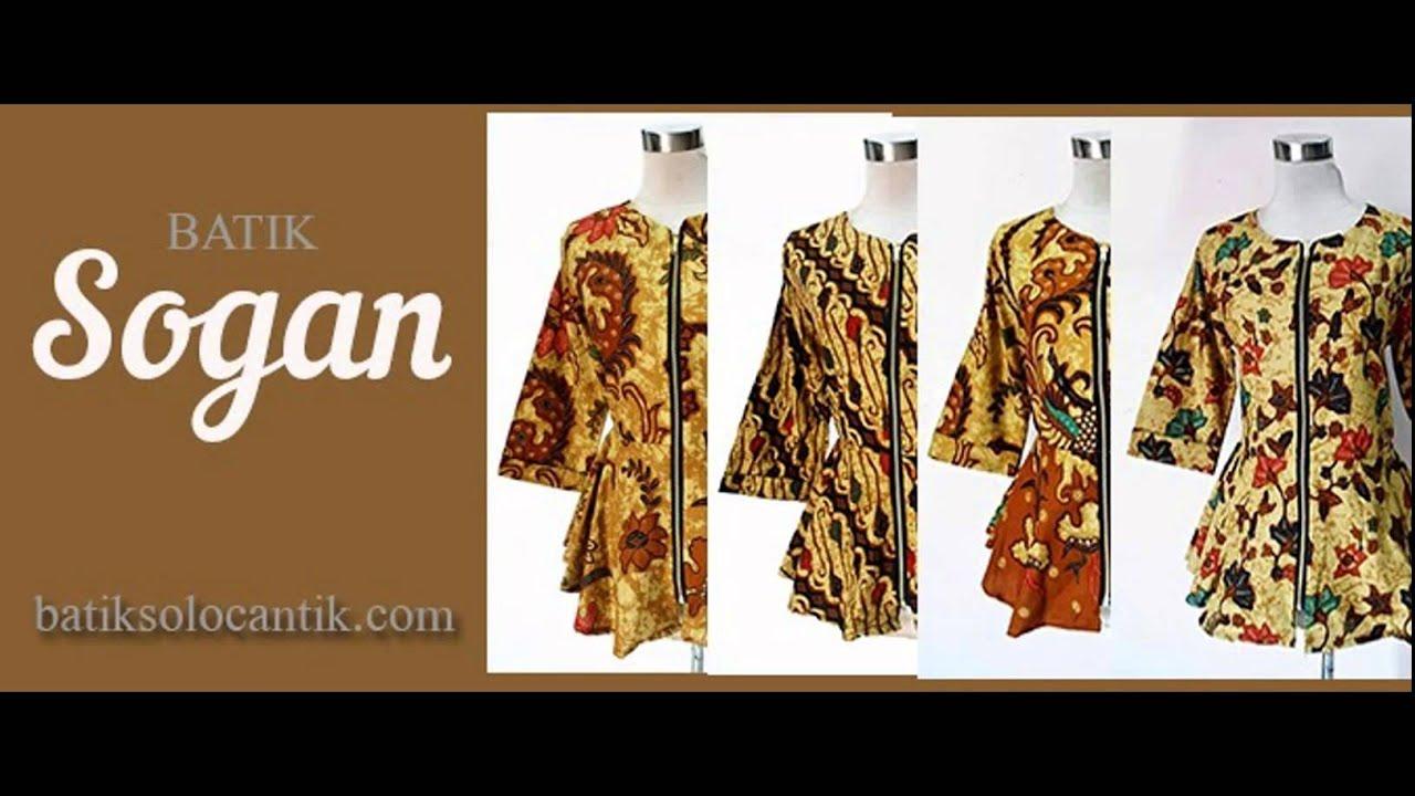 Baju Batik Sogan Modern Dan Trendy Youtube Safety Atasan Kombinasi