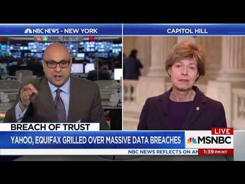 MSNBC: Senator Tammy Baldwin Presses Equifax Execs for Answers on Data Breach