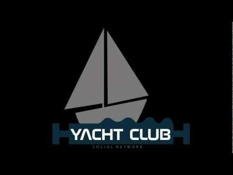 yacht club social network animated logo