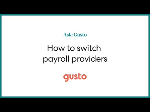 How to Switch Payroll Providers