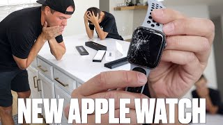 SHATTERED MY BRAND NEW APPLE WATCH SERIES 6 UNBOXING | NEW SERIES 6 APPLE WATCH NIKE