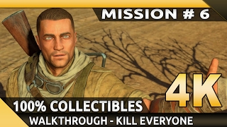 Sniper Elite 3 (PC) - 4K Gameplay - Mission 6 - Kasserine Pass [100% Walkthrough] [Kill Everyone]