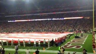 Arizona Cardinals National Anthem At The Univerity of Phoenix Stadium