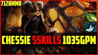 Chessie Queen of Pain 55Kills 1035GPM 7128MMR | Dota 2 Ranked Gameplay
