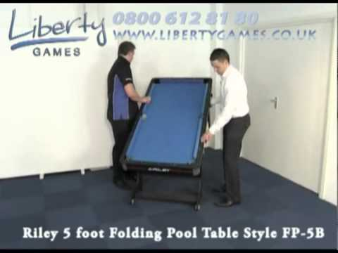 Superbe Riley 5 Foot Folding Pool Table Style FP 5B   YouTube