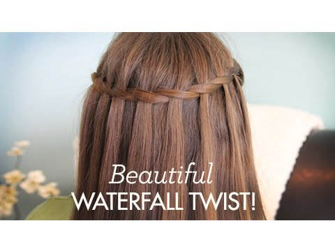 Beautiful Waterfall Twist Cute Girls Hairstyles Youtube