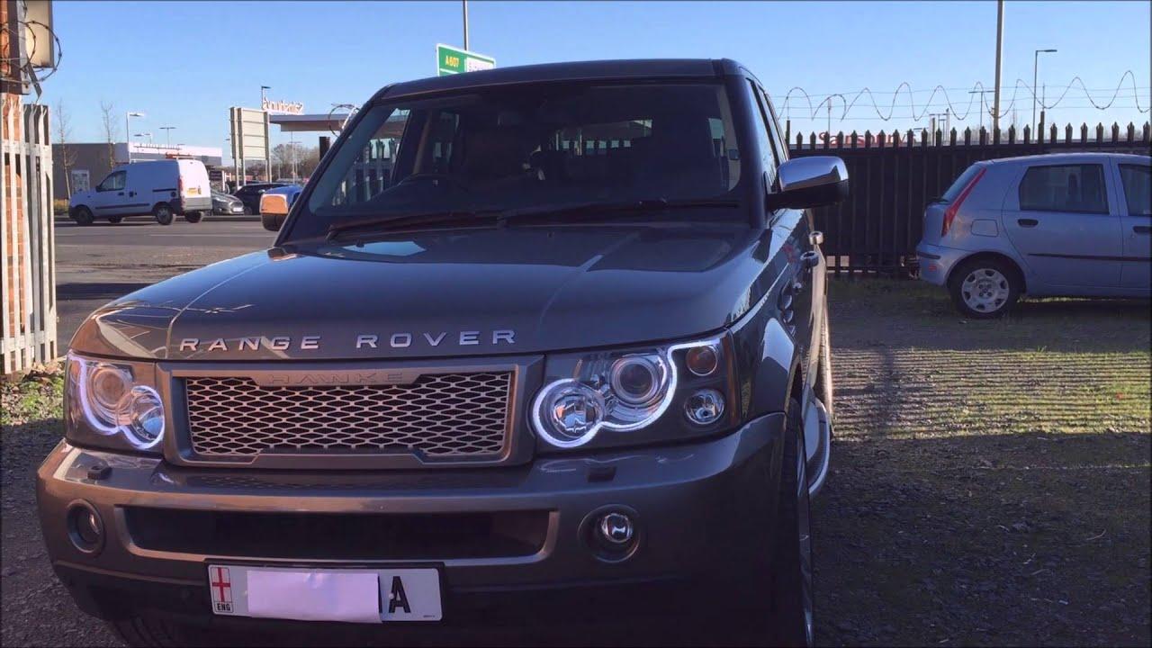 Range Rover Sport LED Headlight Upgrade 2015 Style - YouTube