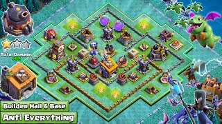 NEW Builder Hall 6 Base 2018 | Coc Bh6 Base | Anti Baby Dragon, Anti Night witch - Clash of Clans
