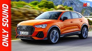 New audi Q3 sportback 2019 - first test drive only engine sound