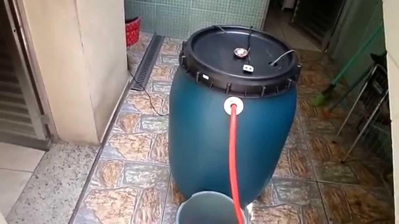 Famosos Reutilização de água da chuva /maquina de lavar roupas - YouTube RI15