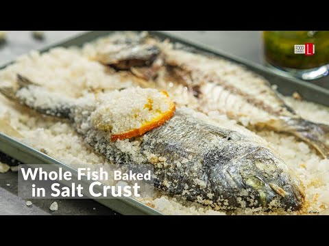Whole Fish Baked In Salt Crust | Food Channel L Recipes