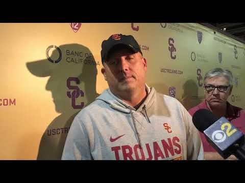 USC Football - Cotton Bowl Practice #1: Clay Helton