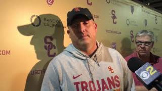 USC Football - Cotton Bowl Practice #1: Clay Helton