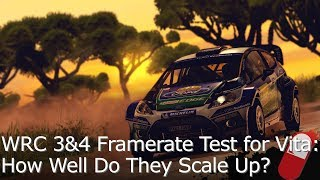 WRC 3&4 - Resolution Hack Framerate Test for PS Vita