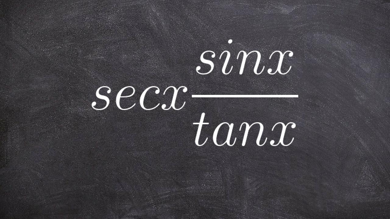 Simplifying basic trig identities - Math homework answers sec(x)  (sin(x)/tan(x))