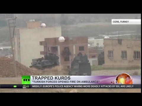 Turkish Military fighting Kurdish Militants