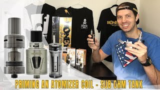 Proper way to prime vape tanks by HoneyStick | atomizer coil priming | brake-in new tank coil
