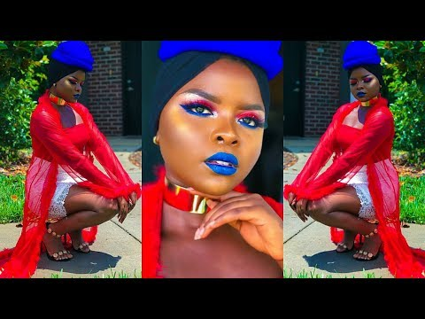 HAITIAN FLAG DAY INSPIRED MAKEUP TUTORIAL AND OUTFIT IDEA | 2018