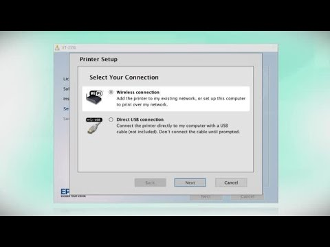 Epson EcoTank ET-2550: Wireless Setup Using the Printer's Buttons