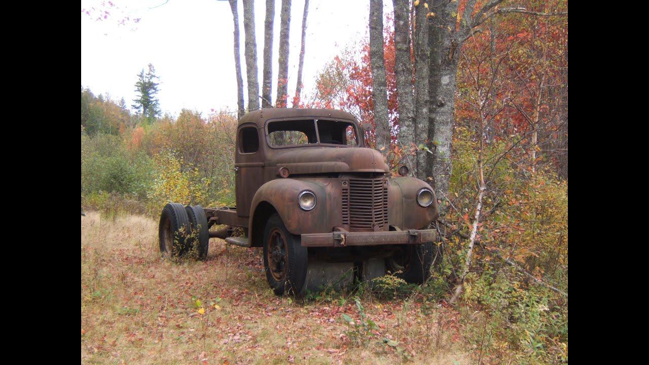 Abandoned trucks in woods. Old truck abandoned. Forgotten ...