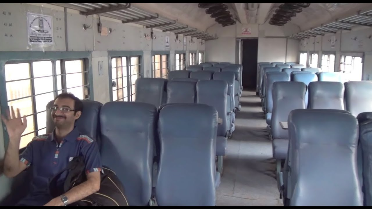 inside view of jan shatabdi express coach wr of saurashtra express
