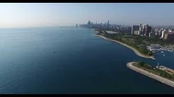 Chicago waterfront flyby