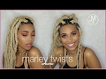 HOW TO: LARGE BLONDE MARLEY TWISTS STEP BY STEP |  short hair friendly