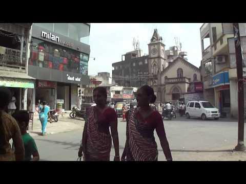 Watching people & traffic for a long time on Market Road, near Tower, then a Rickshaw ride to Jalaram Dana Chana shop, & also a peek inside Sayaji Vaibhav Library, Navsari, Gujarat, India; 28th May 2012