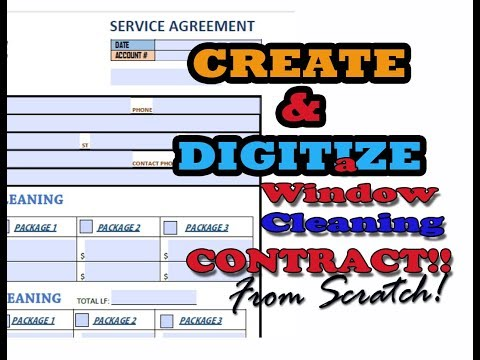 PART 1: How to create AND DIGITIZE a REAL Window/Gutter cleaning Contract!
