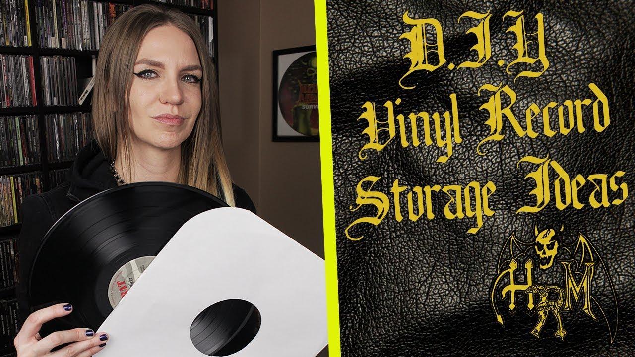 Diy Vinyl Record Storage Ideas Youtube
