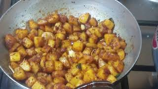 Spicy potato fry and brinjal fry recipies