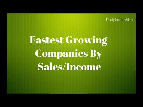 Fastest Growing Companies By SalesIncome