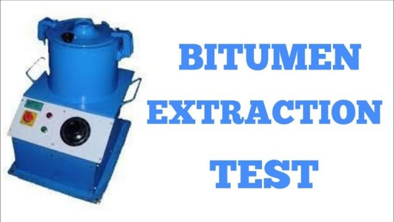 Bitumen Content Test Of Sdbc Bitumen Extractiontest With Calulation Youtube