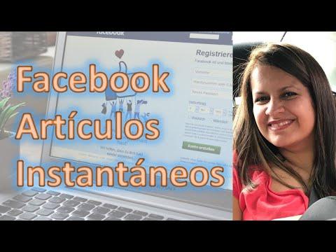 Como Configurar los Artículos Instantaneos para Facebook Video Tutorial