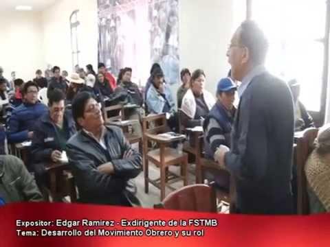 Edgar Ramirez (Escuela de Formación Política Sindical - Oruro 2015)