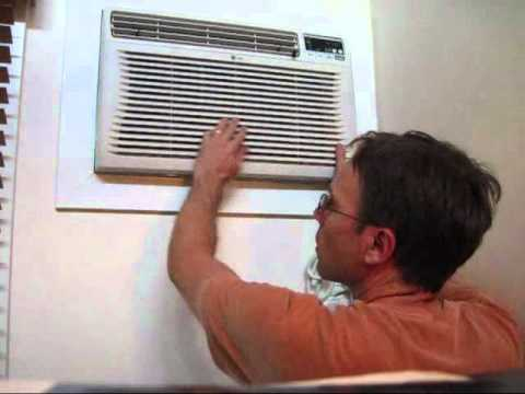 Installing a New Air Conditioner (AC) Wall Unit - Part #3: putting the AC unit in the wall - YouTube