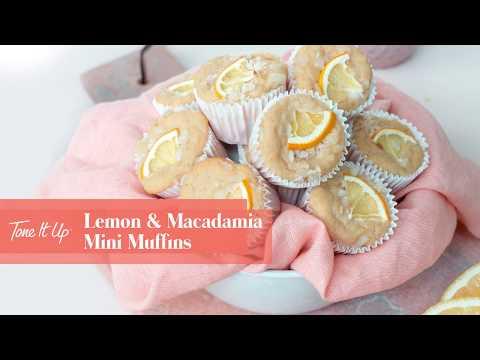 Healthy Lemon Macadamia Mini Muffin Recipe | Step-By-Step Video
