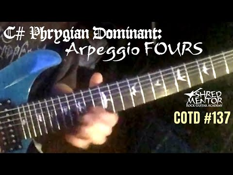 C# Phrygian Dominant: Arpeggio Fours | ShredMentor Challenge of the Day #137