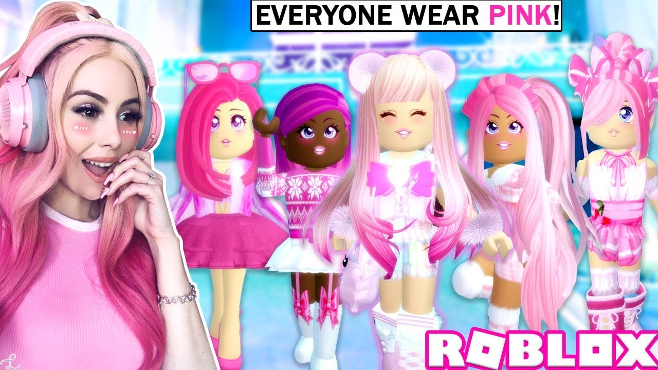 I Got Everyone In The Server To Change Their Outfit To Pink I Can