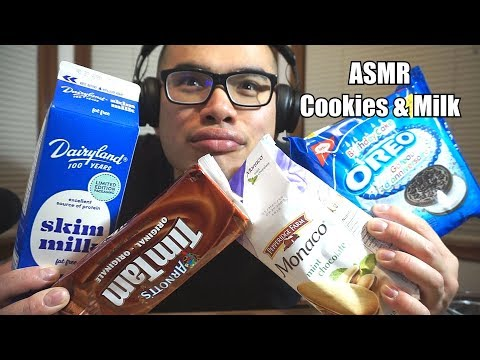 Asmr COOKIES AND MILK *Relaxing Eating Sounds