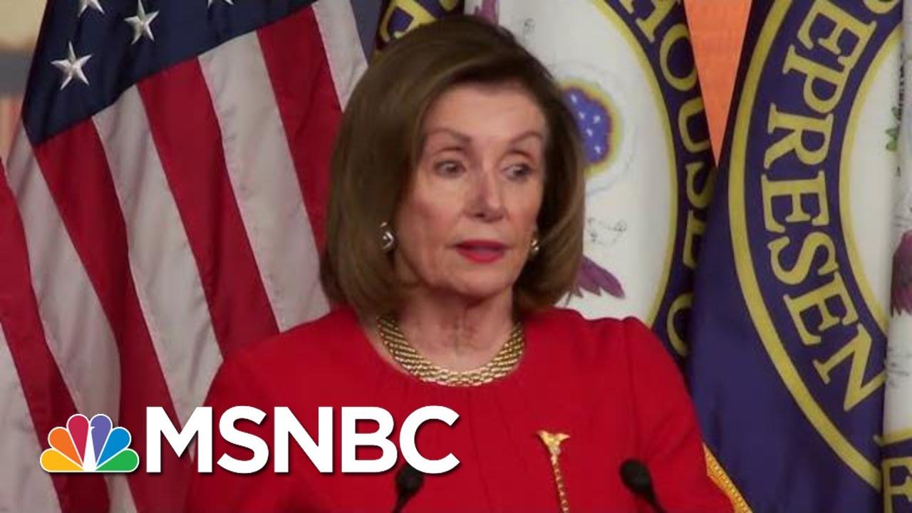 Nancy Pelosi Checks President Donald Trump | The Last Word | MSNBC