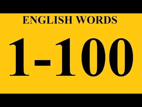 Most Common English Words With Examples 1-100 - Vocabulary Words. English. Learning English Words