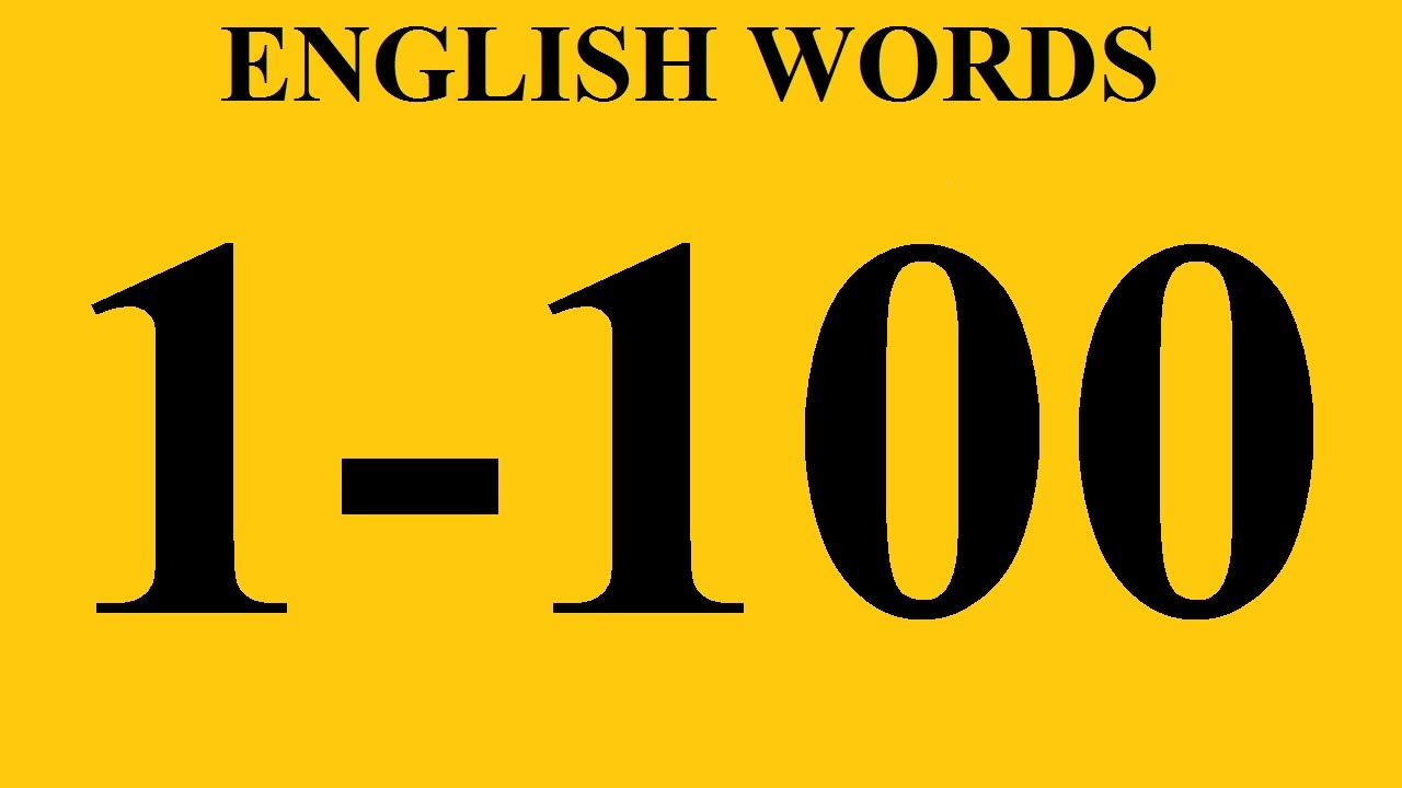 Worksheet 1 To 100 In Words In English most common english words with examples 1 100 vocabulary learning youtube