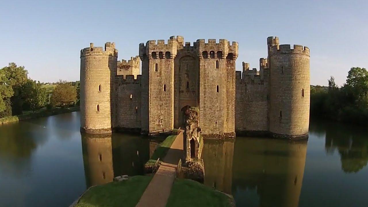 Dji Phantom 2 >> Bodiam Castle From The Air. - YouTube